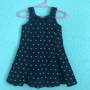 Baby Girl's Navy Blue Gymboree Dress, EUC